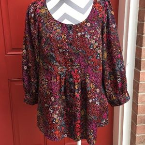 A fun color blouse.